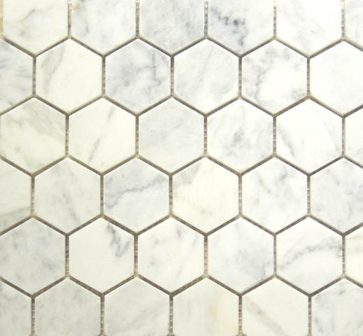 Marble Mosaic tile Carrara Hexagon